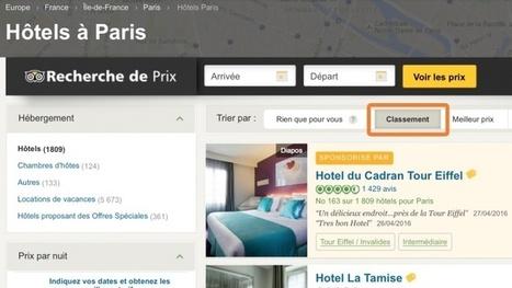 Changements apportés à l'algorithme de l'indice de popularité TripAdvisor | Hotel Management Trends - Tendances Gestion hôtelière | Scoop.it