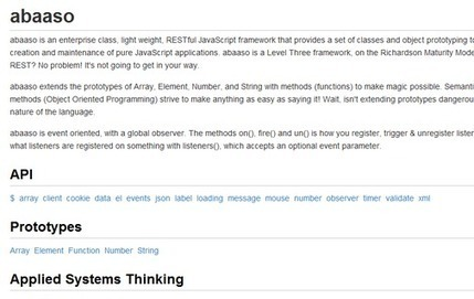 Abaaso – An Enterprise Class, Light Weight, RESTful JavaScript ...   Next Web App   Scoop.it