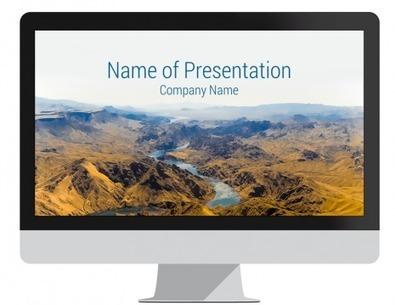 Mountain Landscape PowerPoint Template   Presentation Apps   Scoop.it
