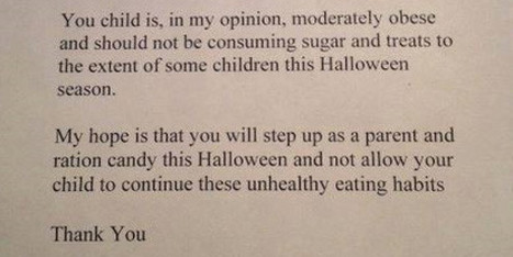 Here's a Tip: Don't Hand Out Fat-Shaming Notes to Kids - Huffington Post Canada   Childhood Obesity   Scoop.it