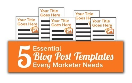 A Blog Post to Help You Write Blog Posts [+5 Free Blogging Templates] | Writing web content | Scoop.it