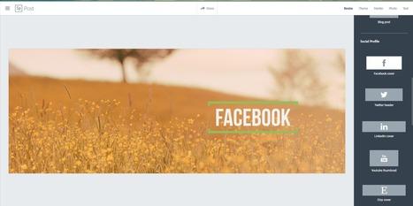 Spark, un outil gratuit pour créer les visuels de vos réseaux sociaux | Création de sites internet - Référencement Dijon | Scoop.it