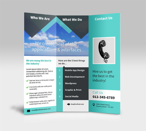 GraphicsFuel.com | Tri-Fold Brochure PSD Mockup | photoshop ressources | Scoop.it