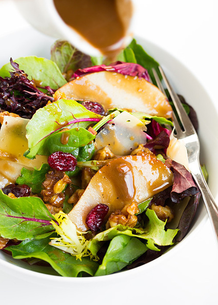 Autumn Pear Salad with Candied Walnuts and Balsamic Vinaigrette | Recipes | Scoop.it