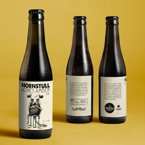 Hornstull Honey Amber Designed by Abby Norm | Packaging Design Ideas | Scoop.it