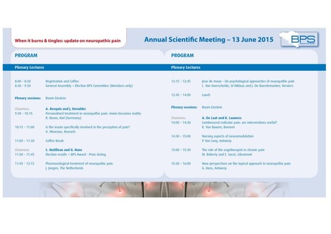 Detailed Program of the Annual Meeting | News from the Belgian Pain Society | Scoop.it
