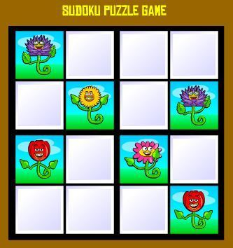 Kids Online Sudoku Game - 4x4 Flowers | Jogos no SCOOP it | Scoop.it