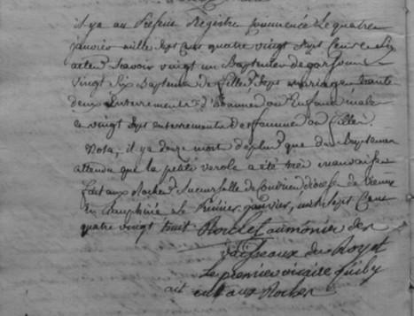 La petite vérole aux Roches en 1787 - Histoire Généalogie - La vie et la mémoire de nos ancêtres | GenealoNet | Scoop.it
