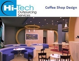 3D Interior Coffee Shop Design and Render at... | Hi-Tech Rendering Services | Architectural 3D Rendering Company in India | Scoop.it