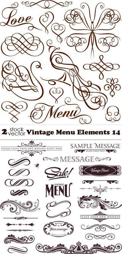 Vectors - Vintage Menu Elements 14   Creative photography   Scoop.it