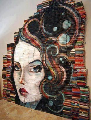Twitter / ManuelMonrrow: -Arte con libros. ... | literatura | Scoop.it