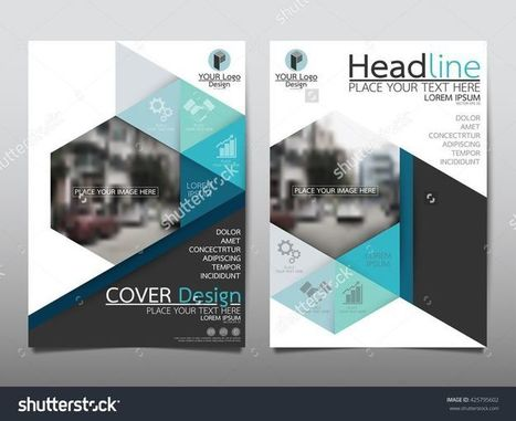 Blue technology triangle and hexagon annual report brochure flyer design template vector, Leaflet cover presentation abstract geometric background, layout in A4 size | Mance Creative - Graphic and Website Design | Scoop.it