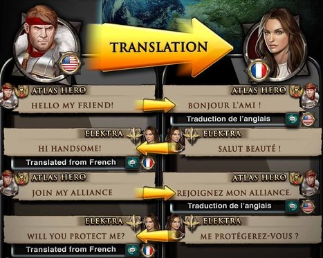 Game of War: Fire Age Translates Players' Chat | Technology and language learning | Scoop.it