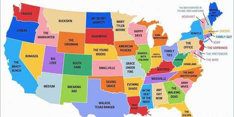 This Map Shows The Most Popular TV Show Set In Every State | Human Geography | Scoop.it