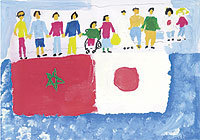 Les enfants du Maroc envoient des messages de solidarité au Japon frappé par le tremblement de terre | Japan Tsunami | Scoop.it
