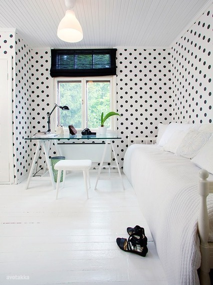Polka dots : un bureau trendy & féminin ! | décoration & déco | Scoop.it