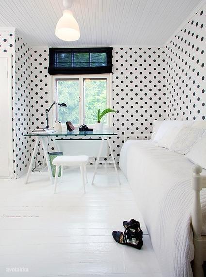 Polka dots : un bureau trendy & féminin ! | décoration & déco | Scoop.it