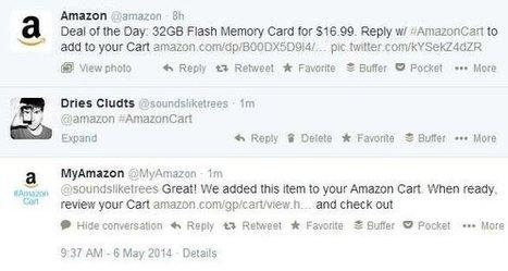 Amazon en Twitter openen winkel via #AmazonCart | ZDNet.be | ICT technology showcase | Scoop.it