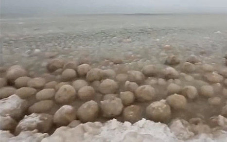 Lake Michigan turns into a sea of ice balls - Telegraph | All about water, the oceans, environmental issues | Scoop.it