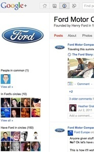 Ford Jumps Into Google+ With All Wheels   ClickZ   Social media news   Scoop.it