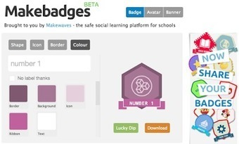 HERRAMIENTAS ONLINE PARA CREAR BADGES Makebadges - the badge design tool for schools - by Makewaves | Con visión pedagógica: Recursos para el profesorado. | Scoop.it