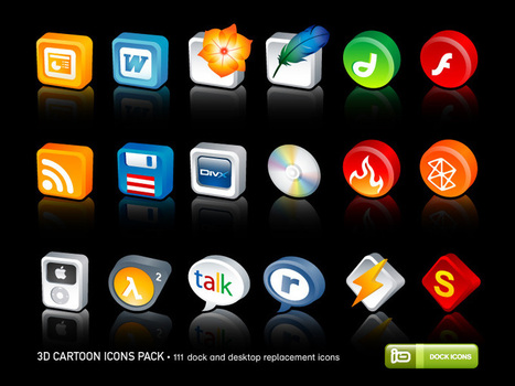3D Cartoon Icons Pack by deleket on deviantART | Programas varios. | Scoop.it