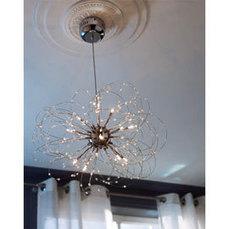 Lustre Hallie H 28,5 40 W Chrome - CASTORAMA | lampes | Scoop.it