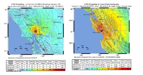 Map: How does the Napa earthquake compare to the big one in 1989? | Article of the Week | Scoop.it