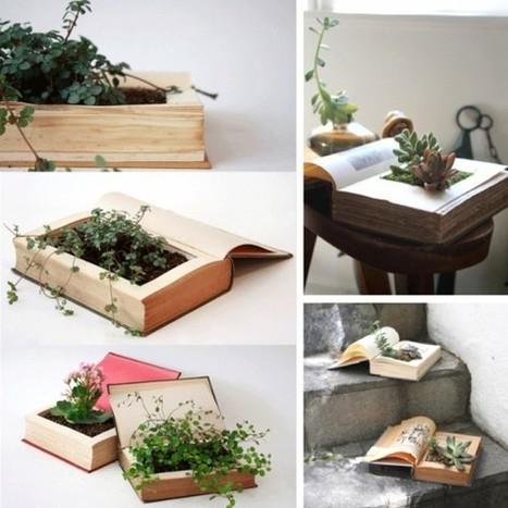 15 Ideen zum kreativen Bücher-Recycling « Lilli Green® - Magazin für nachhaltiges Design und Lifestyle | Recycling Design | Scoop.it
