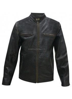 Daddy's Home Mark Wahlberg (Dusty) Distressed Leather Jacket | Leather Jackets | Scoop.it
