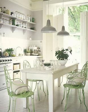 [Déco] Comment utiliser le vert d'eau pour une déco nature dans un salon, une cuisine | La Revue de Technitoit | Scoop.it