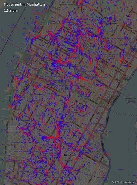 Movement in Manhattan | Geo-visualization | Scoop.it