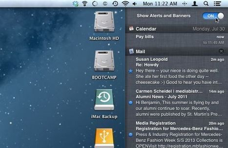 Mac tip: How to pause all your Notification Center alerts   here's the thing   Using the Mac   Scoop.it
