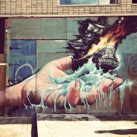 Martin Ron latest Street Art, Shoreditch, London  @GoogleStreetArt | Music and Art | Scoop.it