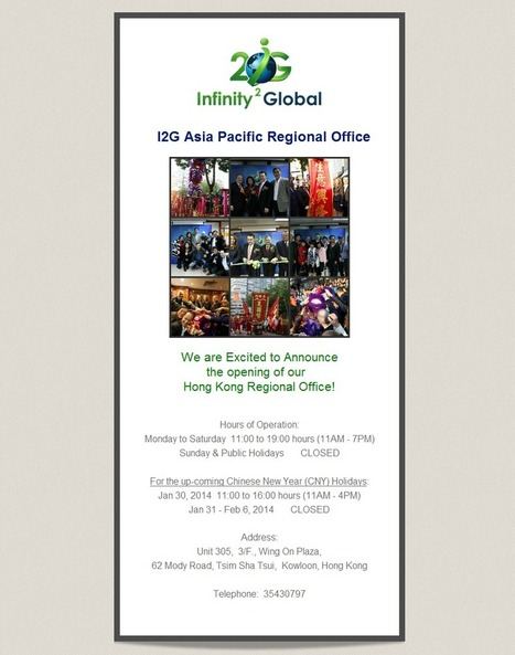 Asia-Pacific Office Now Open For I2G | I2G News | Infinity 2 Global Media | Infinity 2 Global | Scoop.it
