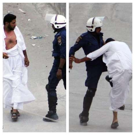 The police attack an old man in #Bahrain 7/7/2012 | Human Rights and the Will to be free | Scoop.it