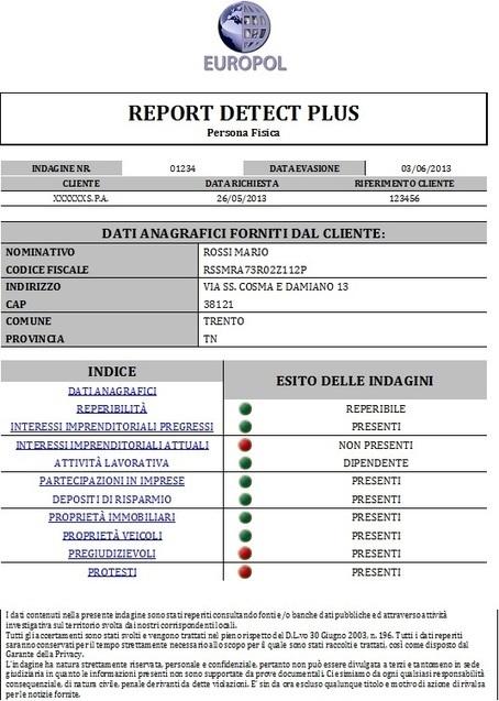 Europol – BLOG EUROPOL » Informazione Commerciale veramente completa DETECT PLUS | Le informazioni commerciali per recupero crediti a Portata di Click | Scoop.it