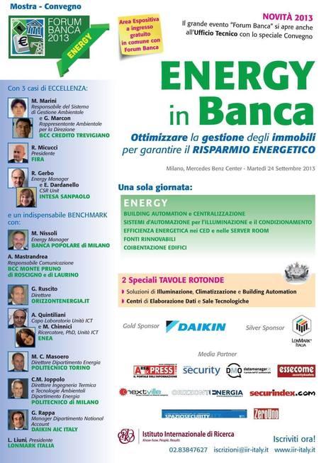 Forum Banca 2013 - La Fira caso di eccellenza a Energy in Banca | green economy | Scoop.it