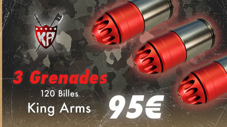 3 Grenade Airsoft 120 billes King arms | Airsoft Rider Shop | Scoop.it