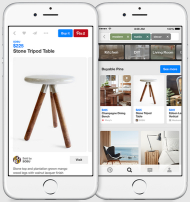 D'Instagram à Pinterest : quand les apps sociales versent dans le e-commerce | Going social | Scoop.it