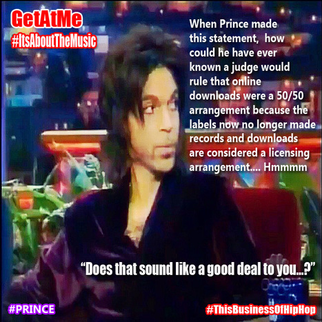 GetAtMe Prince gives his views on record deals and years later, the courts also sorta saw it his way... #ItsAboutTheMusic | GetAtMe | Scoop.it