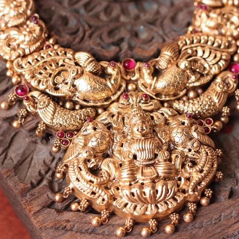 Temple Jewellery Pendants Collection   Kurtis, Sarees, Jewellery   Scoop.it