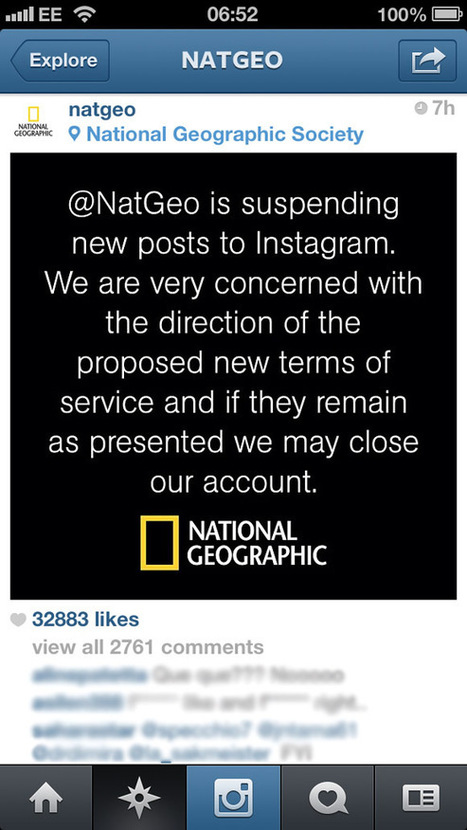 Instagram faces backlash with updated terms of service - British Journal of Photography   Photography Now   Scoop.it