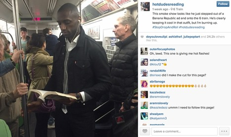 """Banana Republic sneaks into """"Hot Dudes Reading"""" Instagram feed 