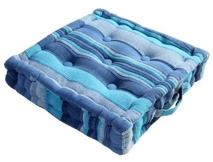 Morroco Striped Cotton Floor Cushion Blue | Home Accessories ! | Scoop.it