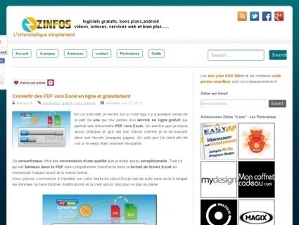 Convertir des PDF vers Excel en ligne et gratuitement | Websourcing.fr | télésecretariat, secrétariat à domicile, auto entrepreneur, | Scoop.it