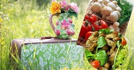 Recette de salade de champignons tièdes aux tomates cerises et fromage de chèvre | Street food : la cuisine du monde de la rue | Scoop.it