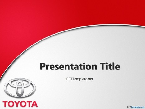 Free Toyota With Logo PPT Template | Free PPT Templates | Scoop.it