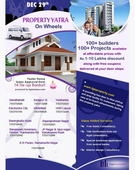 TGS Property Yatra on 29 Dec 13: Source to Find Best Apartments in Bangalore | Real Estate News | Scoop.it