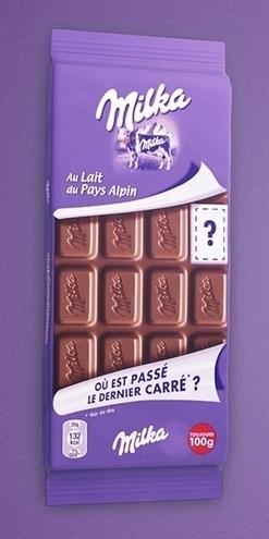 Milka retire un carré de chocolat de toutes ses tablettes | Actus des PME agroalimentaires | Scoop.it